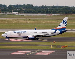 SunExpress Germany B737-8AS D-ASXD taxiing at DUS/EDDL
