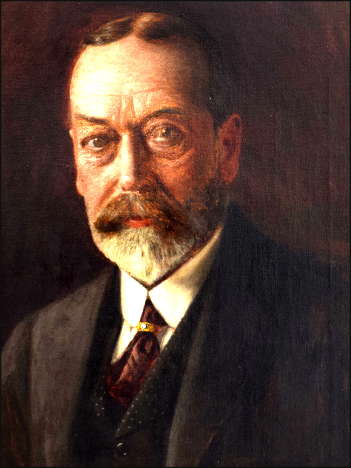 Portrait of King George V by Sir Oswald Birley painted in 1933. Private collection, Bedfordshire.