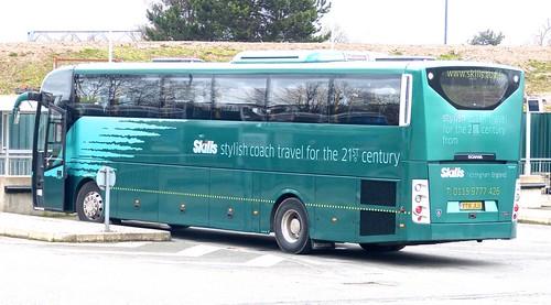 YT16 JLU 'Skills Coaches'. Scania / Lahden (Finland) OmniExpress /2 on Dennis Basford's railsroadsrunways.blogspot.co.uk'
