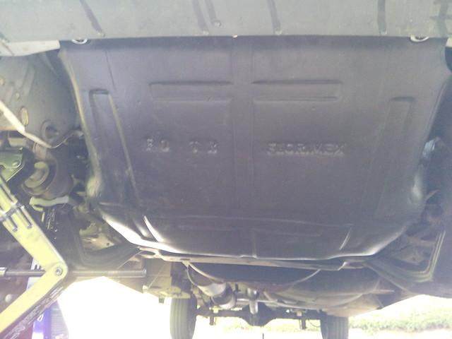 plaque de protection moteur installée