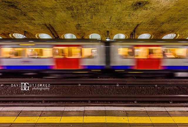 Colours In Motion - Baker Street London Underground Tube Station, London, UK