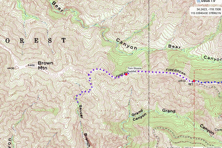 Saucer Canyon Map