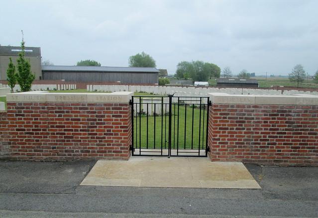 St Julien Dressing Station Cemetery Gates