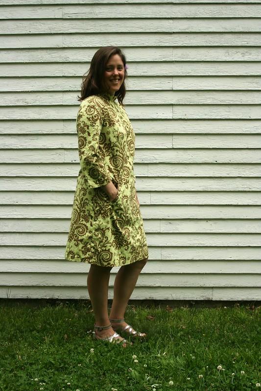 Burda Style 7114 Dress in Amy Butler Fabric