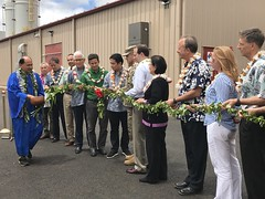 Hawaiian Electric at Schofield Generating Station Commemoration – May 31, 2018: President and CEO Alan Oshima along with others participated in the blessing.