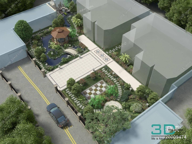 01 Miniature Garden 3dsmax File Free Download - 3D Mili - Download