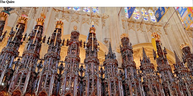 The Quire of St George's Chapel - close up of woodwork