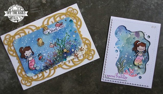 Mermaid themed Cards