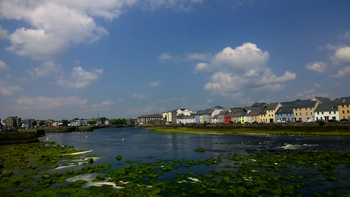 galway ireland river pier street terrace colour light urban city cameraphone lumia1020 cloud sky