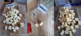 Collage Ziege Bockhornklee Inselkäse würzig
