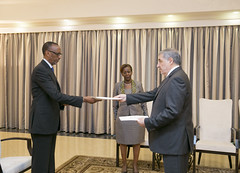 Mr. Karen Chalyan, Ambassador of Russia to Rwanda presents his credentials to President Kagame | Kigali, 2 June 2018