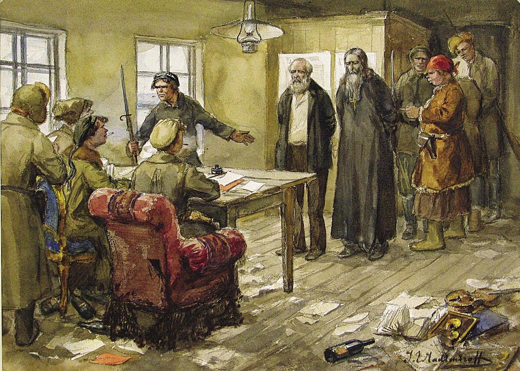 俄国内战与革命的写实绘画09