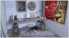 .Industrial Office Desk Set