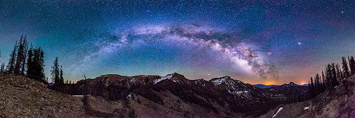 milkyway galaxy panorama night stars nightscape landscape airglow wilderness colorado southsanjuan mountains pagosasprings littleblancotrail blackheadpeak nipplemountain quartzridge squaretopmountain nikon d800e sigma 14mm f18
