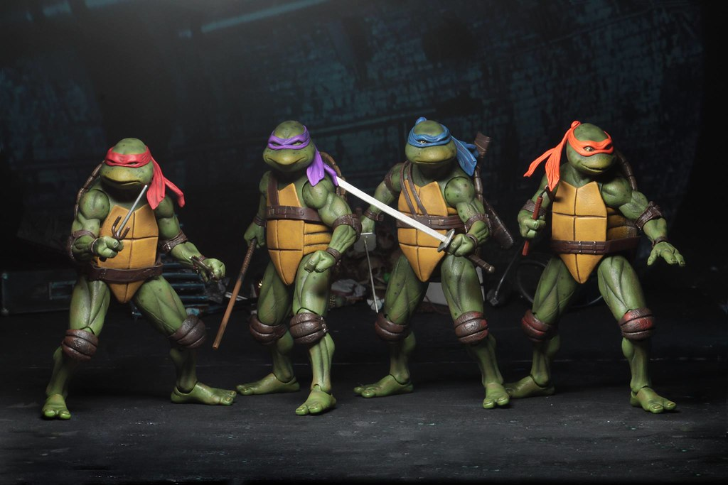 2018 SDCC 限定!! NECA《忍者龜(1990)》四人套裝組 Teenage Mutant Ninja Turtles (1990 Movie) - Action Figure Box Set 經典再現
