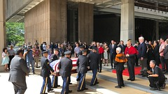 Akaka Casket Arrival at Hawaii State Capitol