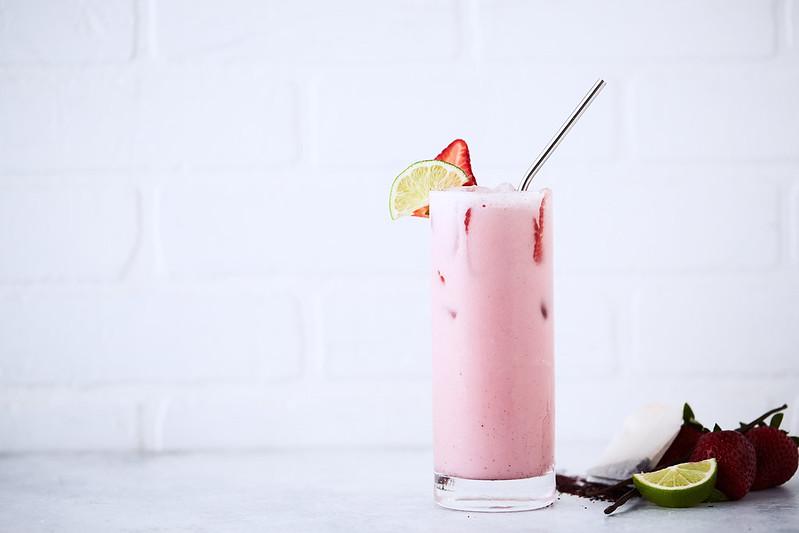 Coconut Vanilla Bean Shaken Hibiscus Iced Tea