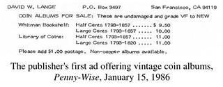 1986 David Lange coin album ad