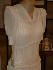Jean Davies wedding gown detail 1945