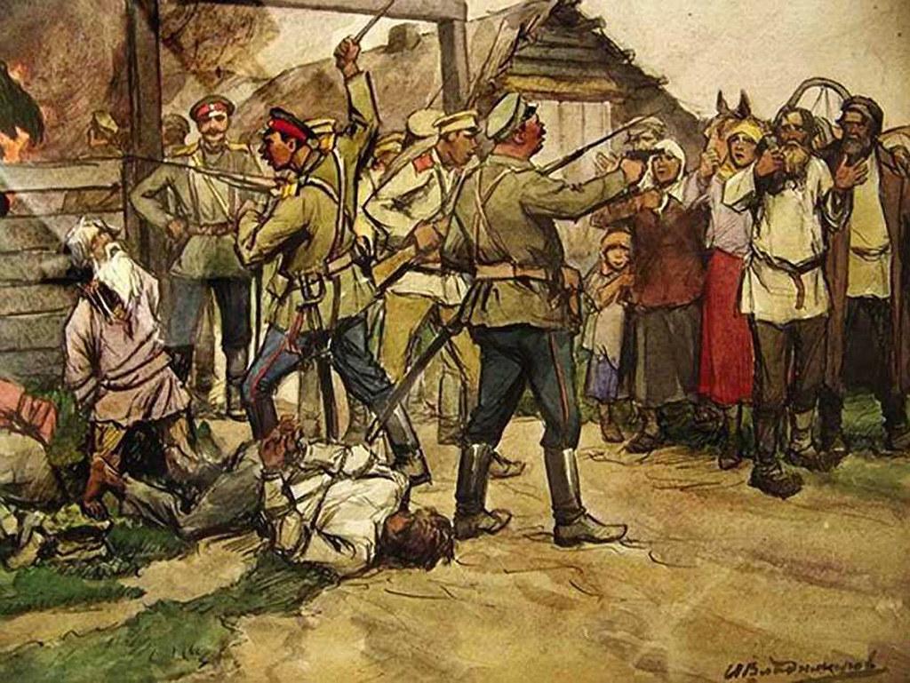 俄国内战与革命的写实绘画12