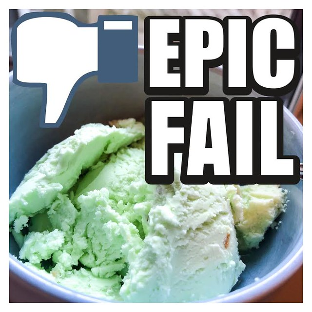Kitchen Disaster: Pistachio Ice Cream... AGAIN!