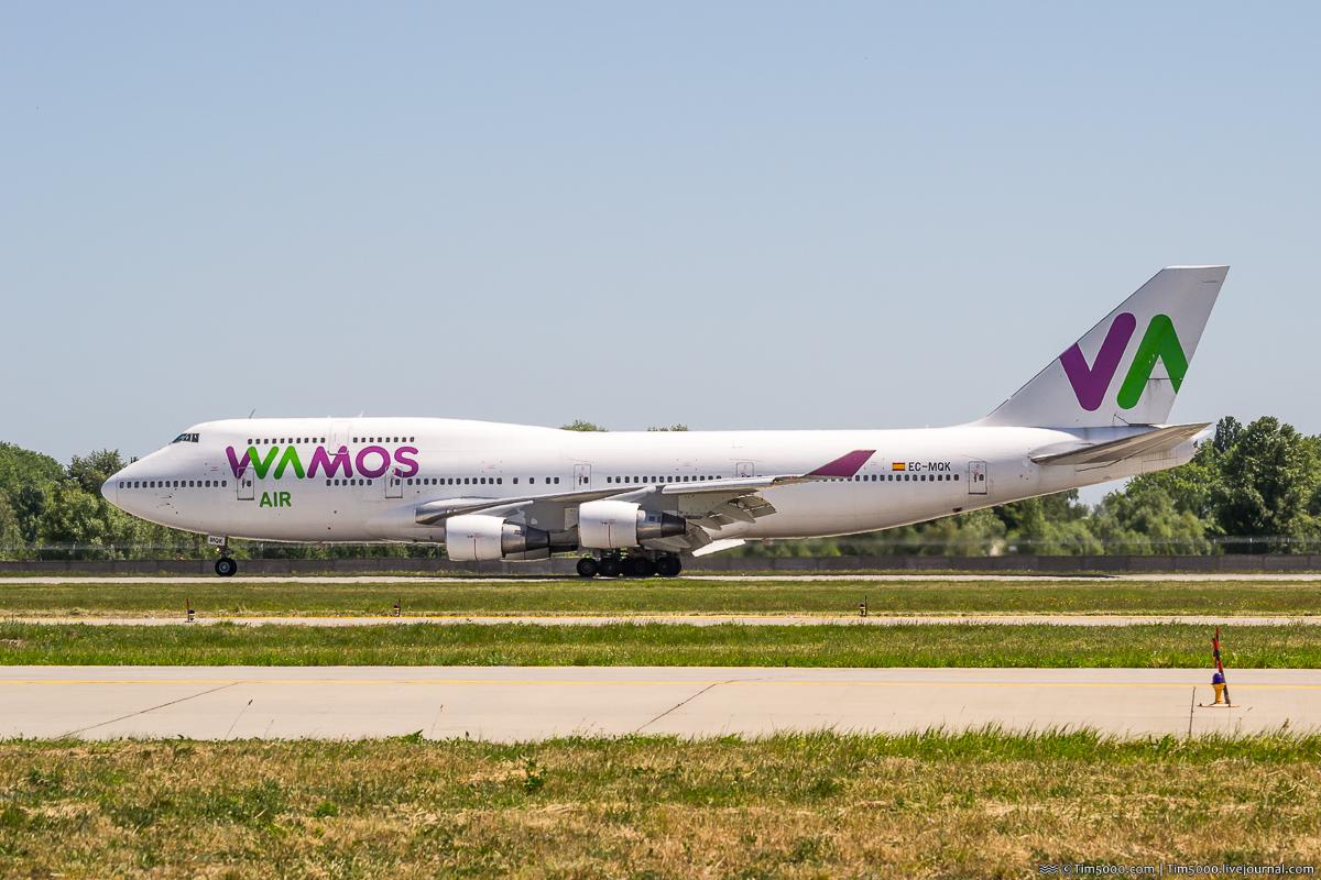 Boeing 747-400 EC-MQK Wamos Air