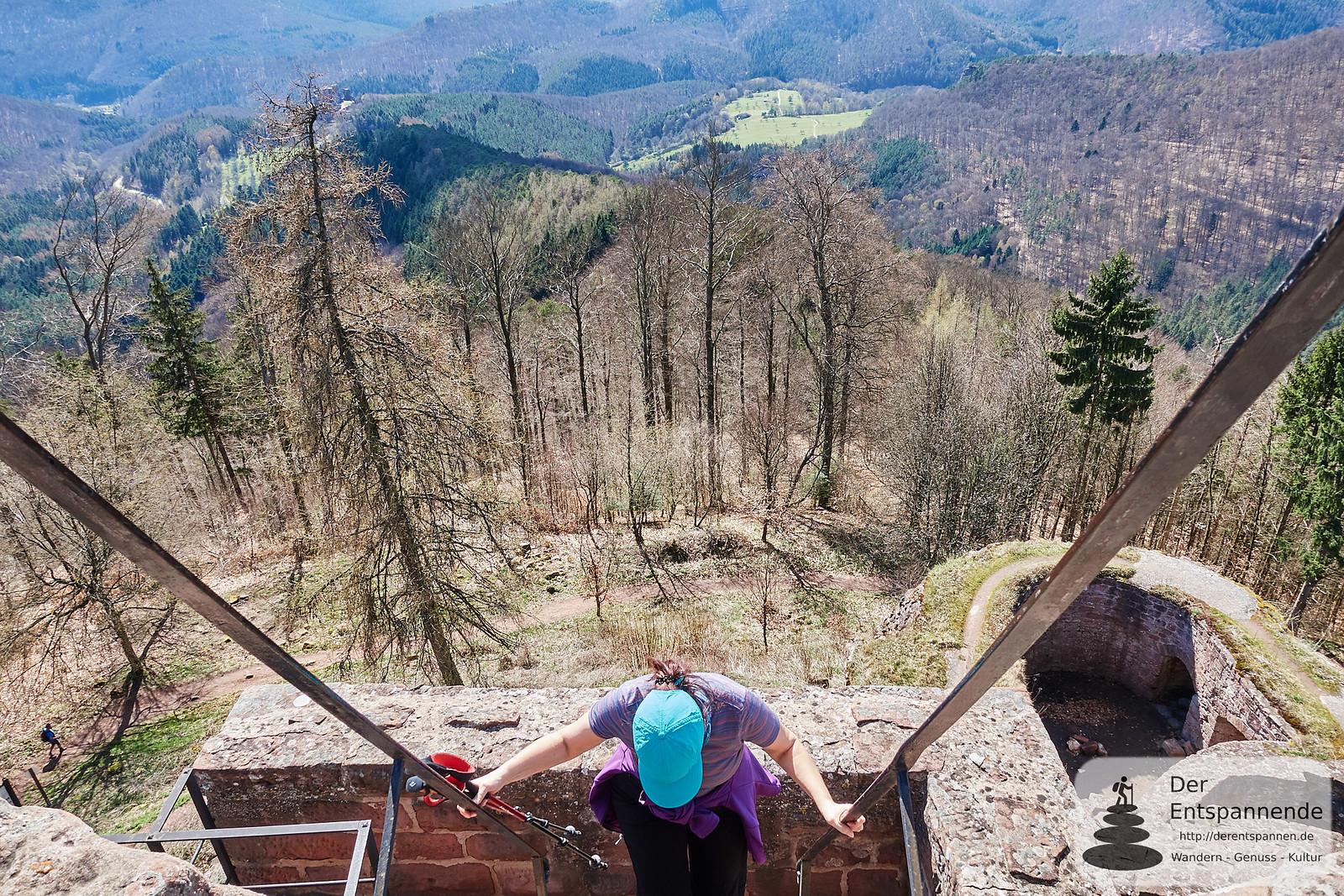 Abstieg von der Hohenbourg