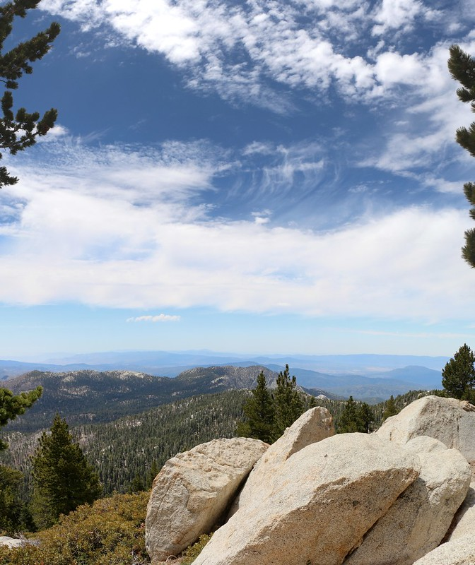 View west toward Tahquitz Peak from the San Jacinto Peak Trail at Wellmans Divide