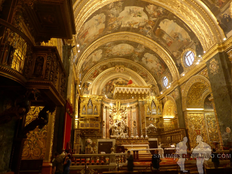 0625. Interior de la ConCatedral, La Valeta, Malta