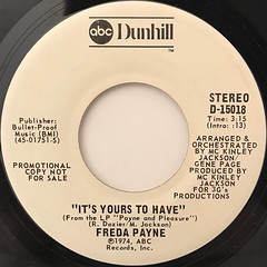 FREDA PAYNE:IT'S YOURS TO HAVE(LABEL SIDE-A)