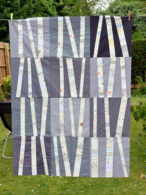 Birch Quilt in progress