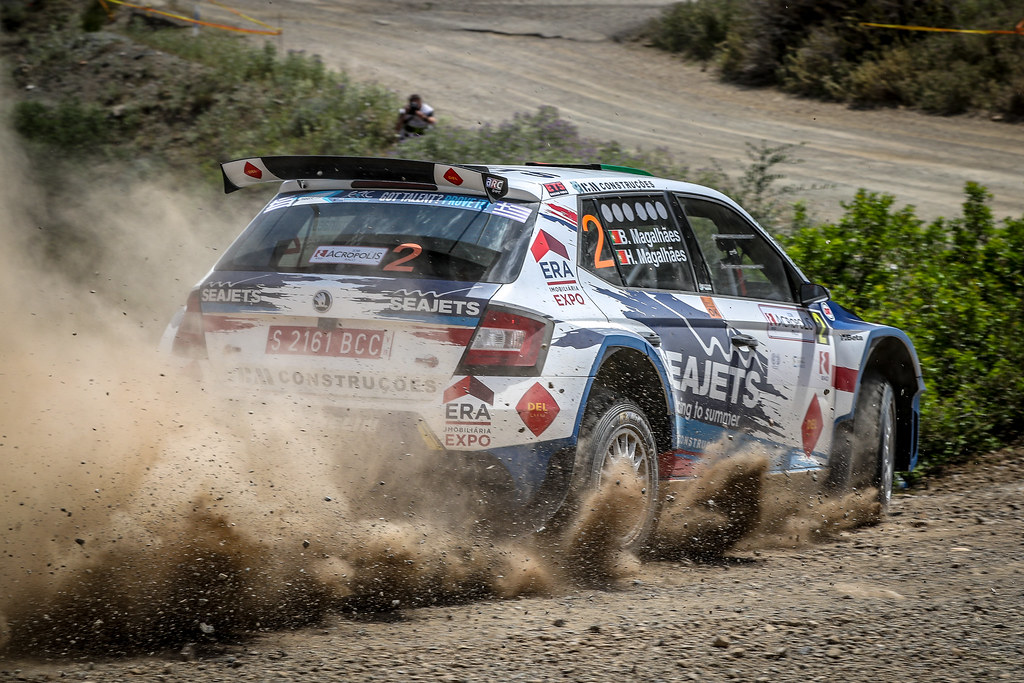 02 MAGALHAES Bruno (prt), MAGALHAES Hugo (prt), SKODA FABIA R5, action during the European Rally Championship 2018 - Acropolis Rally Of Grece, June 1 to 3 at Lamia - Photo Alexandre Guillaumot / DPPI