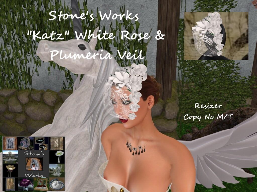 Katz White Headpiece