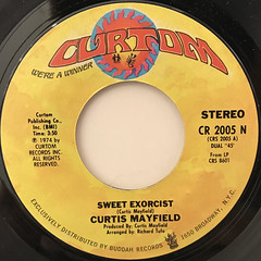 CURTIS MAYFIELD:SWEET EXORCIST(LABEL SIDE-A)
