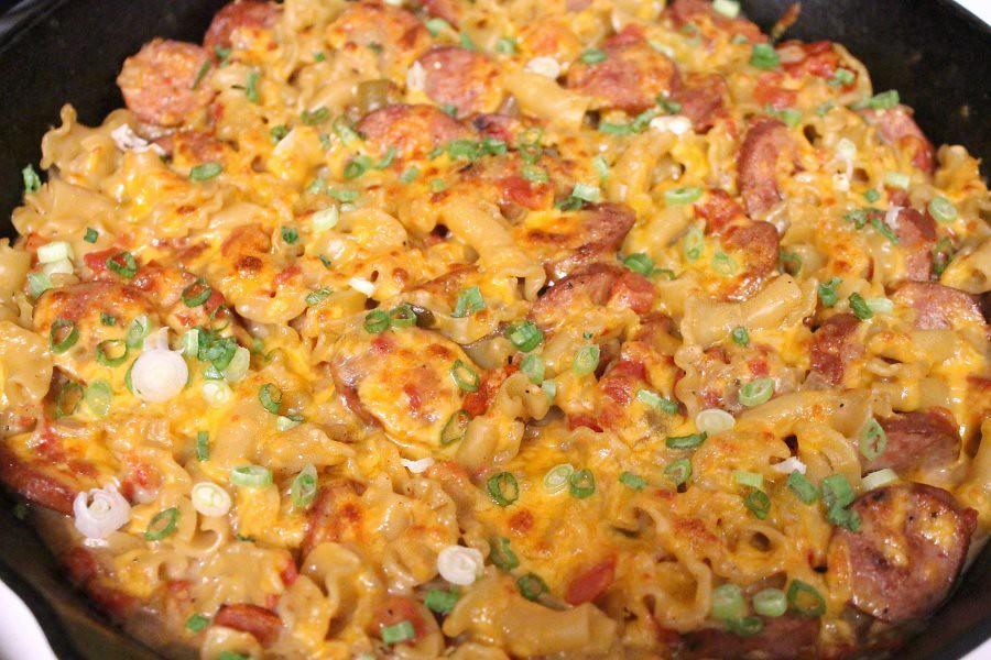 Spicy Sausage & Pasta Skillet, 3
