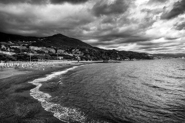 Arenzano's shoreline