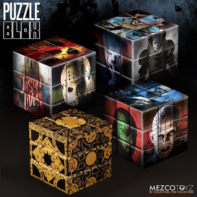 一步一步拼湊出恐怖的殺人魔?!MEZCO【經典恐怖片角色魔術方塊】Horror Movie Characters Puzzle Blox