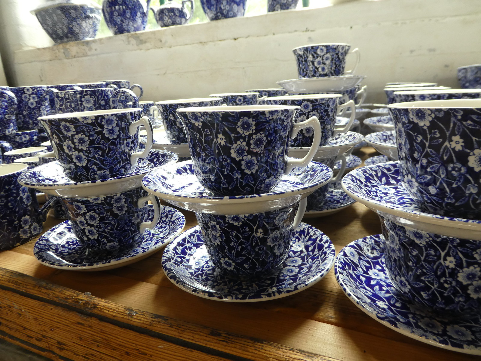 Burleigh pottery range at Middleport Pottery, Burslem