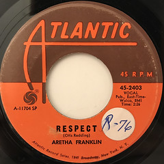 ARETHA FRANKLIN:RESPECT(LABEL SIDE-A)