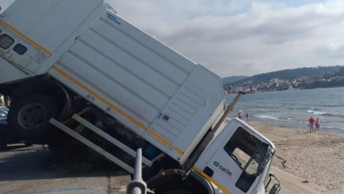 camion su spiaggia agropoli