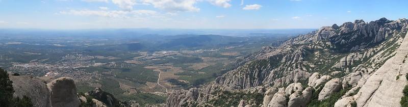 Mirador de Sant Jeroni: vista cap a El BrucIMG_2630 Panorama