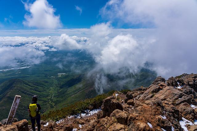奥秩父・富士・南アルプスは雲に隠れる@赤岳