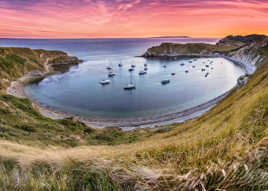 Lulworth Cove, Dorset. Credit Lies Thru a Lens