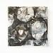 Tamago no hanashi (2) (2018) Acrylic on Najiowashi, canvas, charcoal, pencil, ink, pastel 230x230x30mm by mayakonakamura