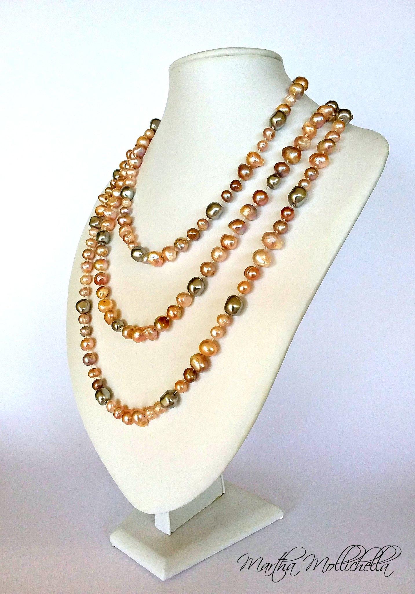 Freshwater pearls swarovski baroque pearls