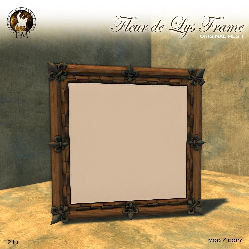 F&M * Fleur de Lys Frame - TeleportHub.com Live!