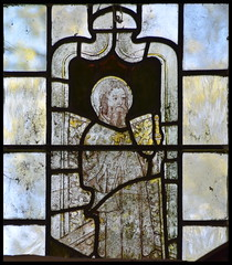 St Margaret? with a man's head (15th Century)