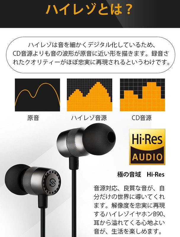 SoundPEATS イヤホン B90 (2)