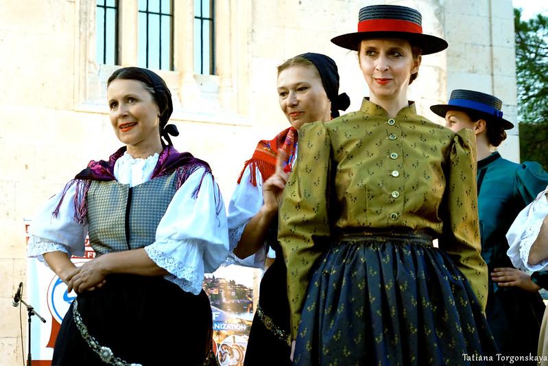Женщины из фольклорной группы Словении