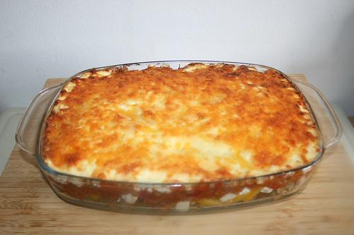 64 - Gyros tomato rice casserole - Finished baking / Gyros-Tomatenreis-Auflauf - Fertig gebacken